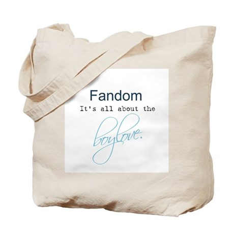 it's all about the boylove Tote Bag