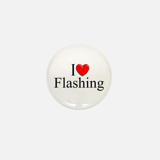 """I Love (Heart) Flashing"" Mini Button"