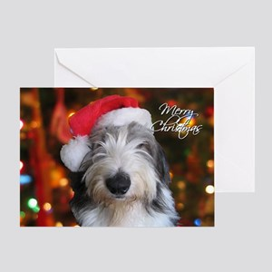 Old English Sheepdog Single Greeting Card