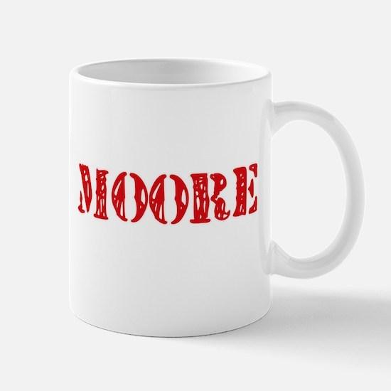 Moore Retro Stencil Design Mugs