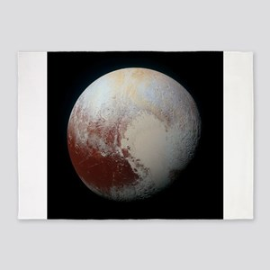 Pluto by New Horizons spacecraft 5'x7'Area Rug