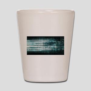 Technology Abstrac Shot Glass