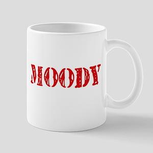 Moody Retro Stencil Design Mugs