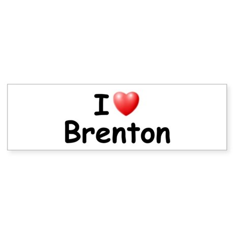 I Love Brenton (Black) Bumper Sticker