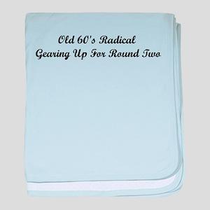 Old 60's Radical baby blanket