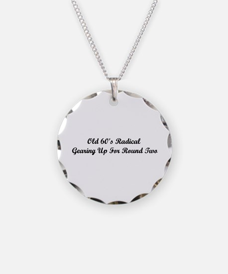 Old 60's Radical Necklace Circle Charm
