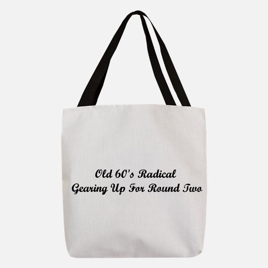 Old 60's Radical Polyester Tote Bag