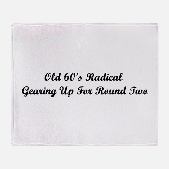 Old 60's Radical Throw Blanket