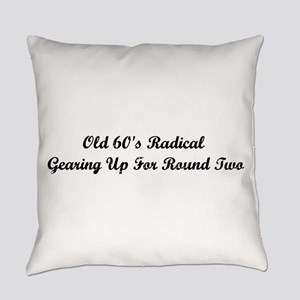 Old 60's Radical Everyday Pillow