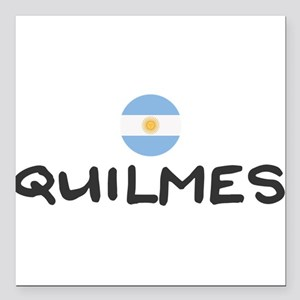 "Quilmes Square Car Magnet 3"" x 3"""