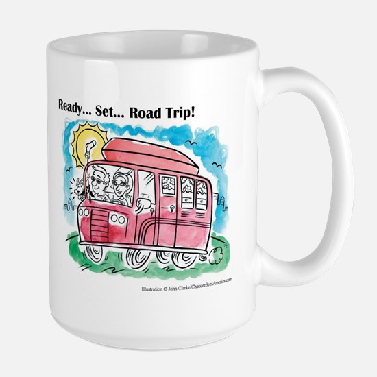 """Chaucer's Large """"Family Road Trip"""" Mug"""