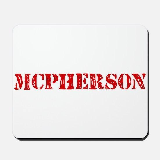 Mcpherson Retro Stencil Design Mousepad