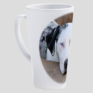 Sad Catahoula 17 oz Latte Mug