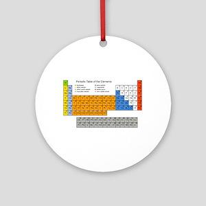 Periodic Table  Ornament (Round)