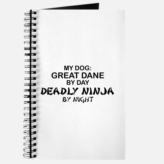 Great Dane Deadly Ninja Journal