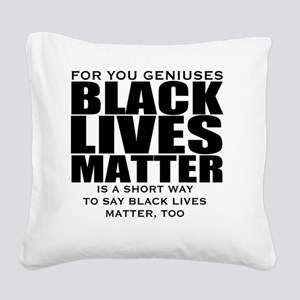 African American Square Canvas Pillow