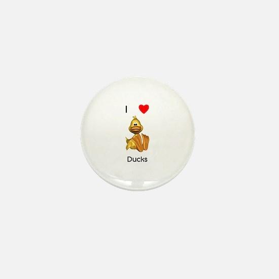 I love ducks (2) Mini Button
