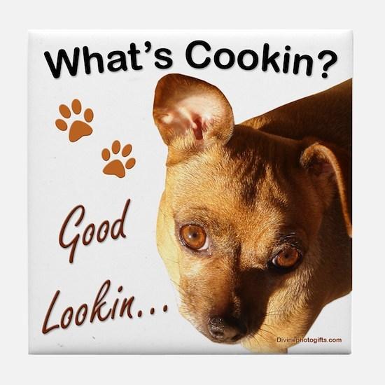 Funny Chihuahua Gift Tile Coaster