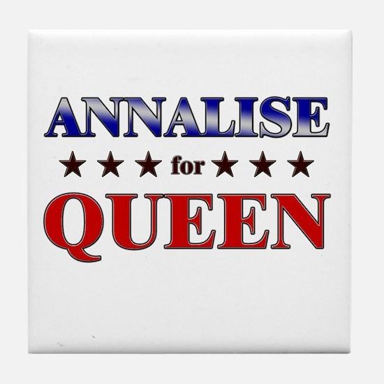 ANNALISE for queen Tile Coaster