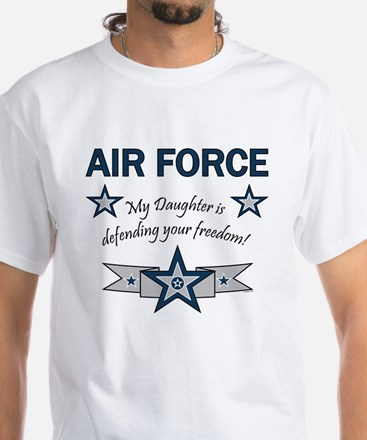 Air Force Daughter defending White T-Shirt