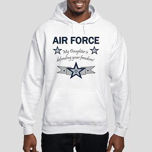 Air Force Daughter defending Hooded Sweatshirt