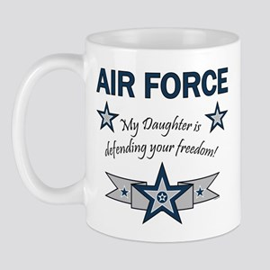 Air Force Daughter defending Mug