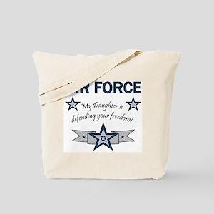 Air Force Daughter defending Tote Bag