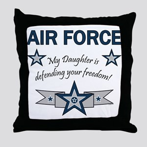 Air Force Daughter defending Throw Pillow