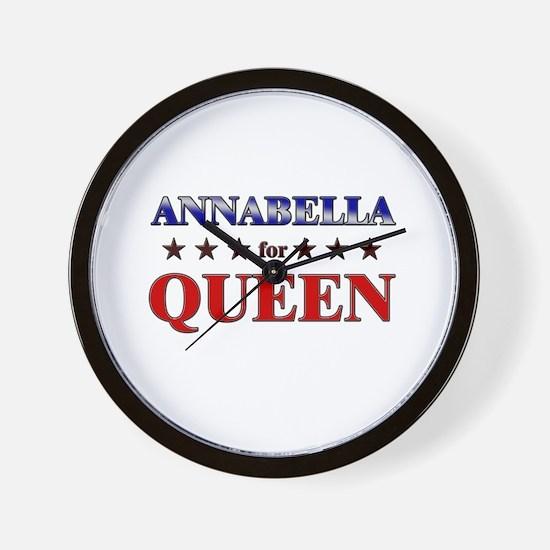 ANNABELLA for queen Wall Clock