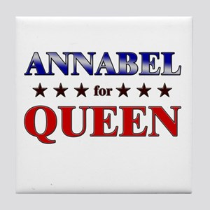 ANNABEL for queen Tile Coaster