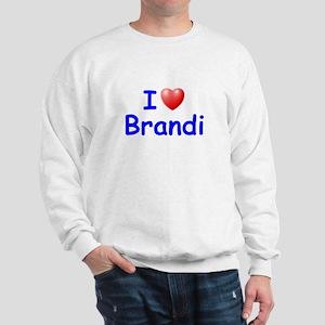 I Love Brandi (Blue) Sweatshirt