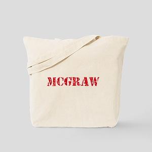 Mcgraw Retro Stencil Design Tote Bag