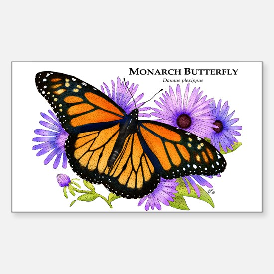 Monarch Butterfly Rectangle Decal