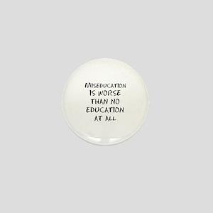 Black American Mini Button