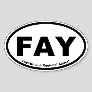 Fayetteville Regional Airport Oval Sticker