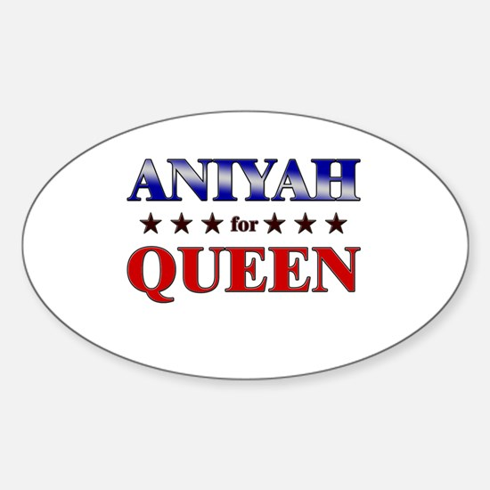 ANIYAH for queen Oval Decal