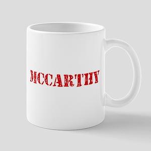 Mccarthy Retro Stencil Design Mugs
