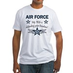 Air Force Wife defending Fitted T-Shirt