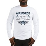 Air Force Wife defending Long Sleeve T-Shirt