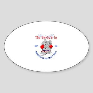 Republican Convention Oval Sticker