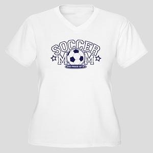 Soccer Mom Women's Plus Size V-Neck T-Shirt