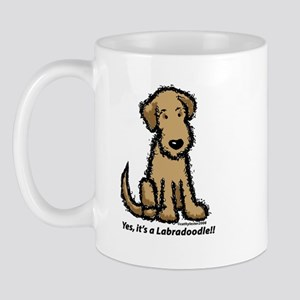 Yes it's a Labradoodle!! Mug