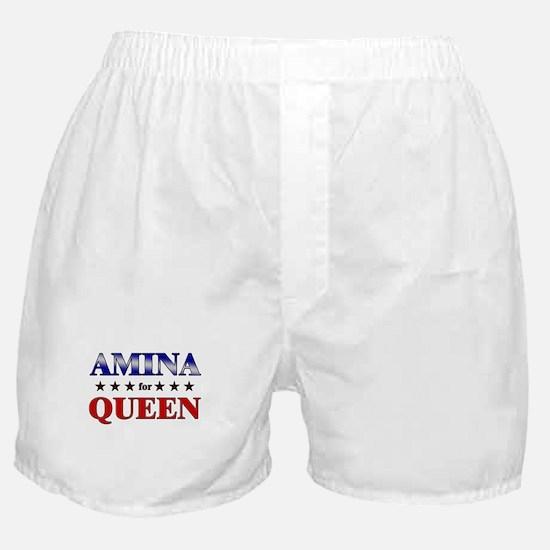AMINA for queen Boxer Shorts