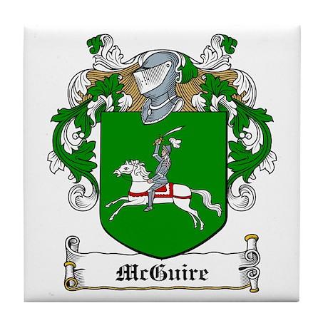 McGuire Family Crest Tile Coaster
