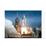 Why man invented fire Postcards (Package of 8)