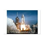 Why man invented fire Mini Poster Print