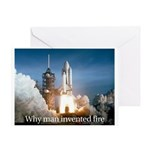 Why man invented fire Greeting Card