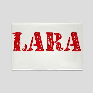 Lara Retro Stencil Design Magnets