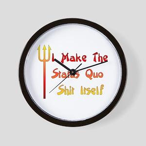Status Quo Humor Wall Clock
