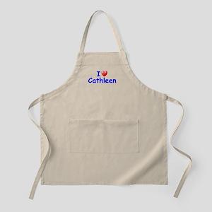 I Love Cathleen (Blue) BBQ Apron